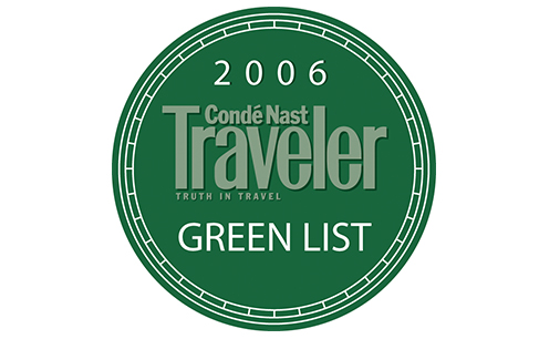 2006 Conde Nast Traveler Green List