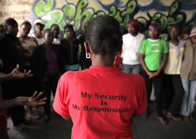 My Security is My Responsibility - teaching a group of teenage mothers about utilizing all their personal strengths.