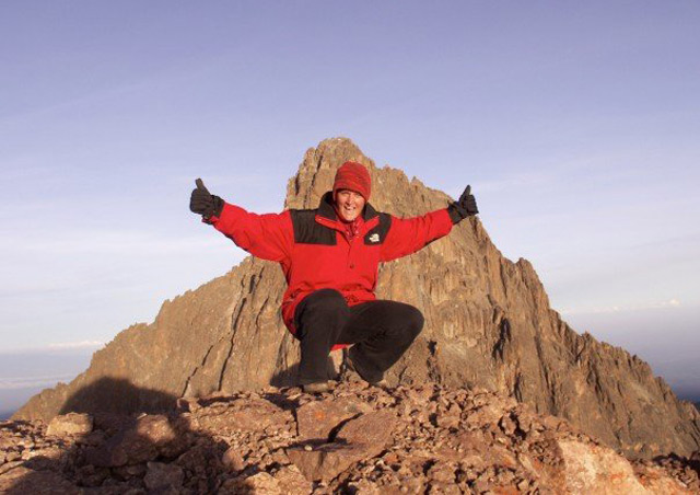 My first safari in Kenya was climbing Mount Kenya. Made it to the top Point Lenana at 4,985 metres.