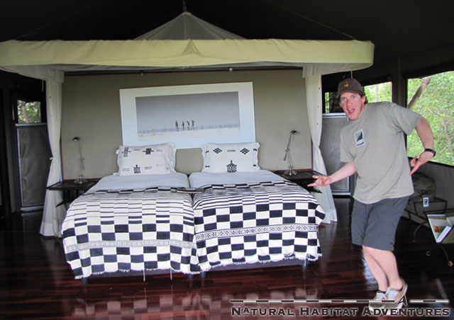 """Oh my God! I love black and white checkered bed spreads!"""