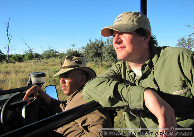 What? A couple of guys, chillin' out, watchin' a lioness... what?