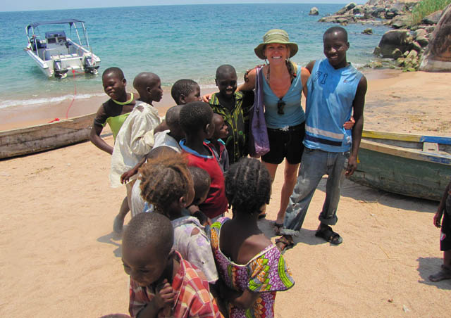 The kids welcomed us with open arms when visiting a tiny fishing village in Tanzania.