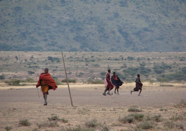 Masai Soccer Game: Some things are universal… at a Masai village we got to see first hand how this tribe eats, sleeps, works and even how the kids play soccer!