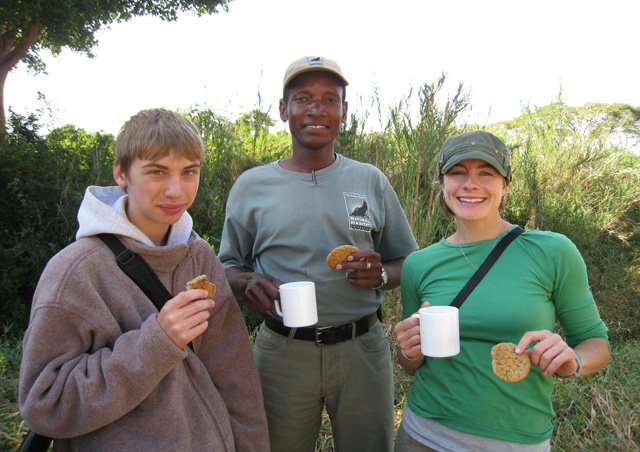 Things couldn't get better – after an incredible morning of wildlife viewing, Naiman pulled out a bag of fresh baked cookies baked that morning by the camp cook.