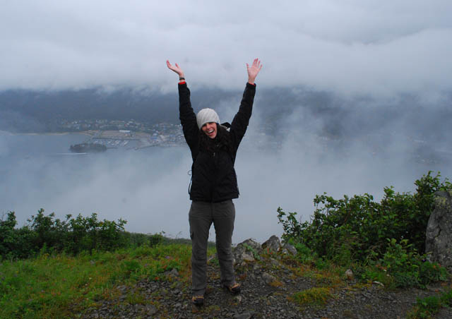 On top of Mount Roberts, above the Gastineau Channel near Juneau, Alaska.
