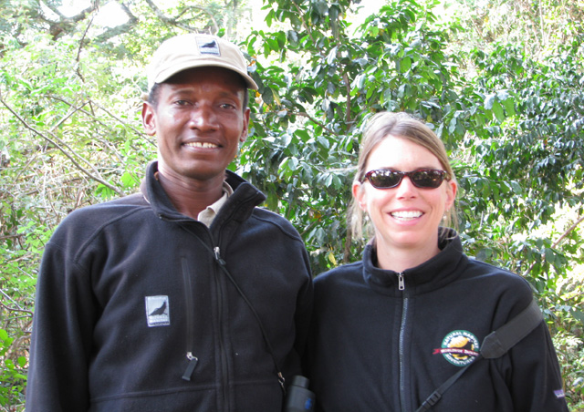 Our guide, Naiman, and NHA Adventure Specialist, Suzanna, posed together on a nature walk.