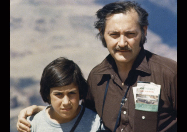 Ben started traveling at an early age (not always as smiley about it as he is today). Here, Ben's father, Martin, takes him to the Grand Canyon at age 10.