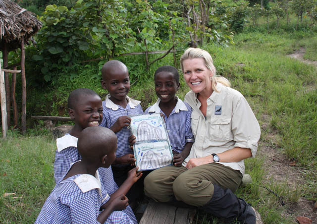 After spending a magical, precious hour with a family of endangered Mountain Gorillas in Bwindi Impenetrable Forest, Uganda, I bought artwork from school kids waiting on the trail.  Priceless!