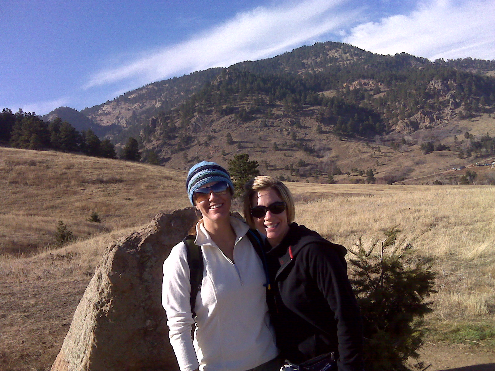 My sister Lisa and I hiking in my own back yard at Chautauqua Park in lovely Boulder, Colorado.