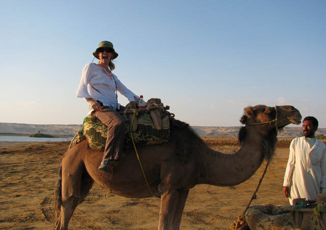 Sunset camel ride at the Bahayria Oasis in Egypt.