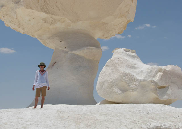 I survived 130 degree temperatures in Egypt's surreal White Desert.
