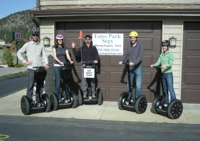 My family modeled for a segway company for a day. I'm the one in the pink helmet.