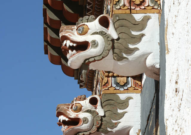 Ornately decorated buildings are a highlight for visitors to Bhutan