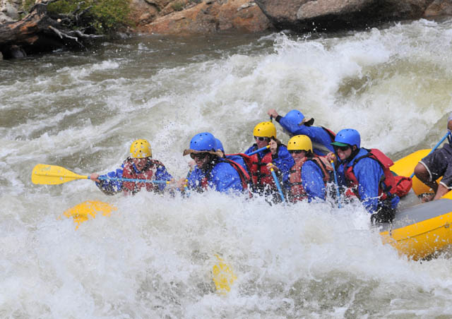 A classic Colorado adventure: Whitewater rafting on the Arkansas River near Salida!