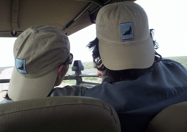 Ben and Laura on a game drive in 2006.