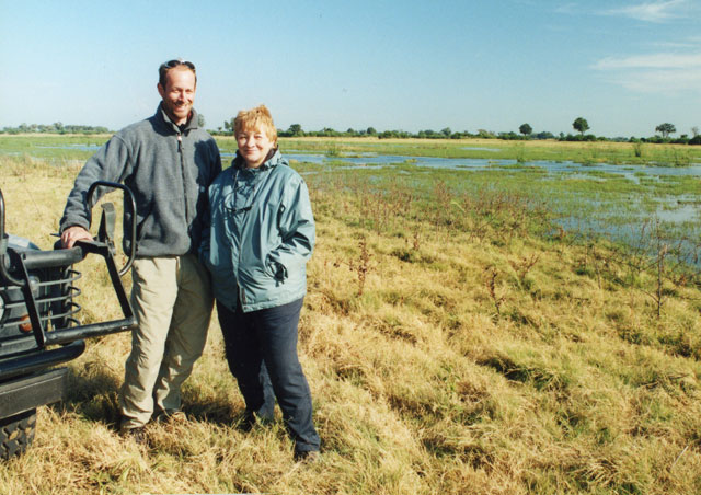 With my mom, Lois in the Okavango Delta, Botswana.