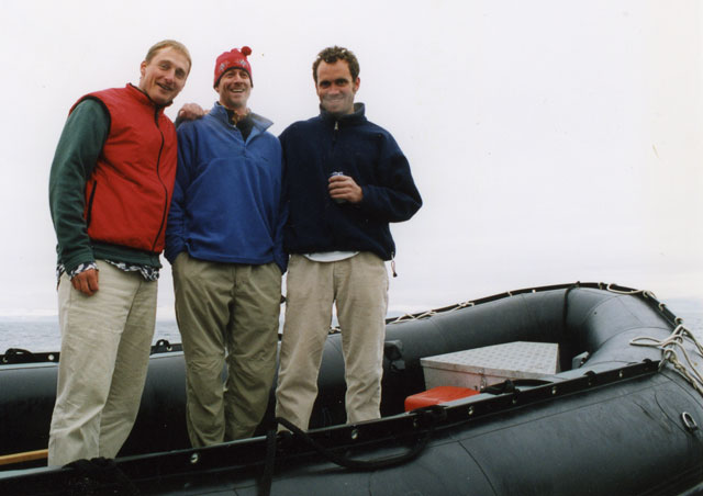In Spitsbergen (Svalbard), north of Norway with Rick (left) and Matt (right) from Nat Hab.