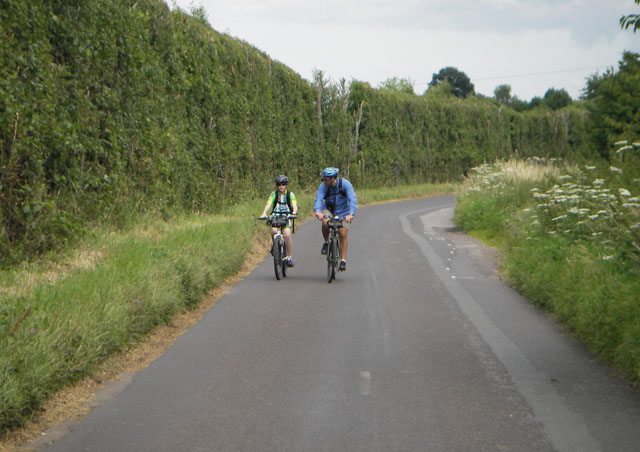 Besides nature expeditions, Ben also loves biking adventures. Here he is crossing the English countryside with his 12-year old son, Cole.