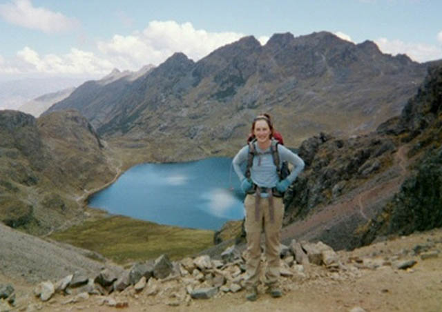 A beautiful lake along the Lares Trek in the Andes. We hiked uphill for hours and this was my gorgeous reward! My digital camera had died in the Sacred Valley so this was taken with a very overpriced disposable camera. 2007