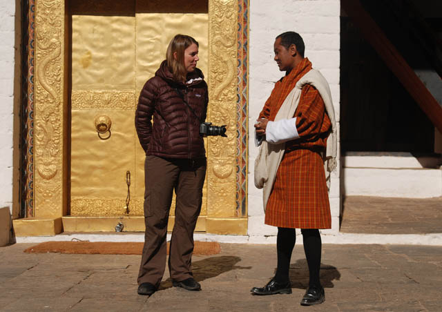 Chatting with Nima our local Bhutanese guide
