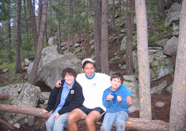 Ben enjoys the outdoors and camping in Colorado with his best buddies -- his two sons, Cole and Finlay.