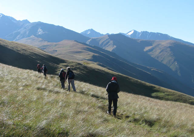 "In 2009 I spent two weeks trekking the Caucasus Mountains in the Republic of Georgia on an Explorers' Corner adventure. These are the ""mountains of poetry"" and reminded me of both the Alps and Himalayas."