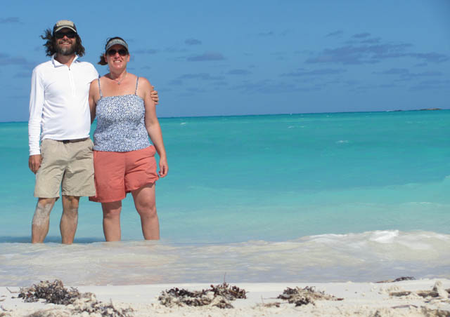 Enjoying the beautiful surroundings in Exuma