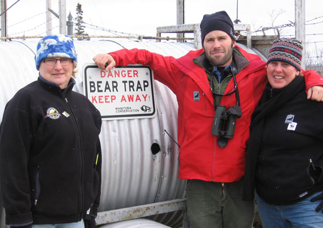 Myself with two of our fearless Polar Bear guides