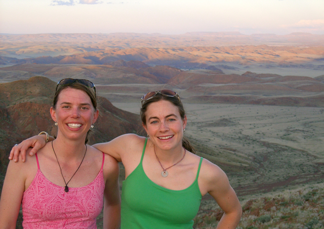 Aly (my co-worker) and I near Damaraland Camp, Namibia. We did a short hike up a nearby butte for a fantastic view of the surrounding land.