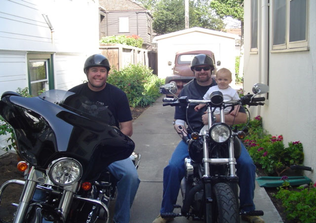 My Brother, Nephew and Myself heading out for a ride in Northern California.