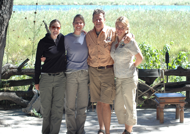 Aly and I were very lucky to spend time with our wonderful guide/hostess in Botswana – Dave Luck and Eugenie. They offer us a wonderful experience around Duma Tau camp in the Linyanti Region. We saw lots of elephants, cats, giraffes and birds.