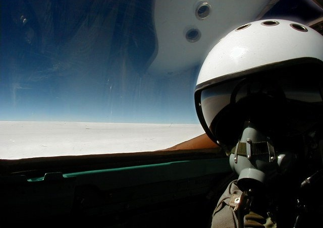 "Here I am in a Russian Mig 25 flying up at 70,000ft.  The sky turns completely black up at that altitude.  The real lesson learned is that ""you've never been lost until you've been lost traveling at 1,500 mph."""