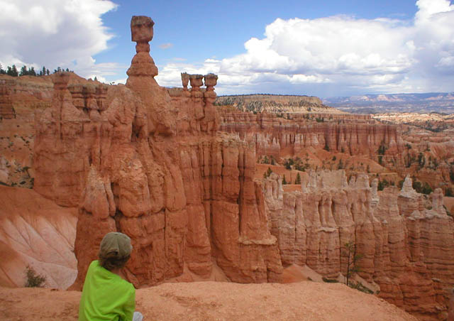 My son enjoys the view! Bryce Canyon