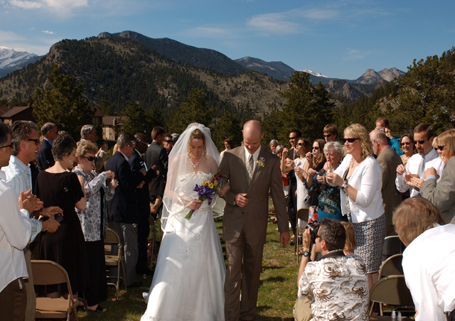 Just Married! Estes Park, Colorado. We had great weather for an outdoor ceremony.