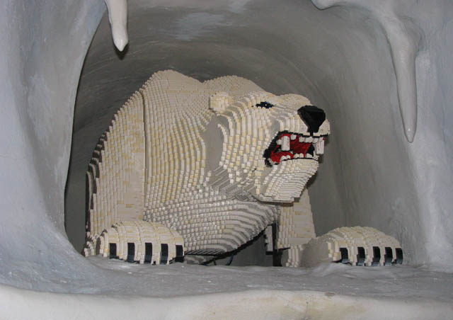 The mighty polar bear – this one made completely of Legos – Legoland, California
