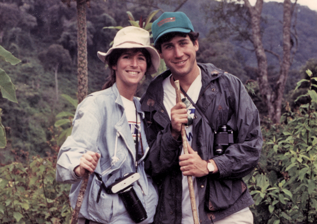 On his honeymoon in 1990, (a youthful) Ben and Laura visited the mountain gorillas of Central Africa.