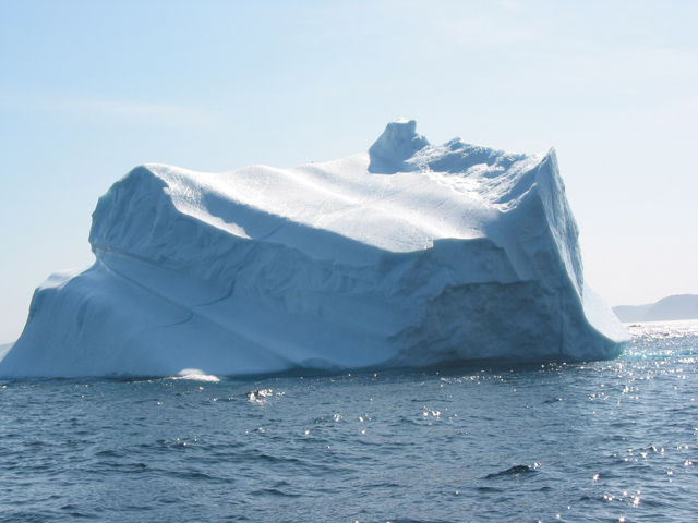 An iceberg off the coast of Old Bonaventure, Newfoundland.  This was my very first iceberg experience!