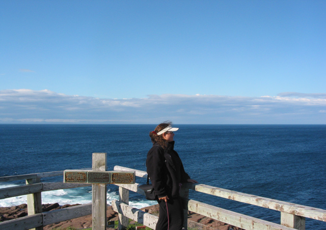 That's me at Cape Spear in Newfoundland: the most easterly point on the North American continent. While many people think of Newfoundland as being very far north, it's actually at about the same latitude as Paris.