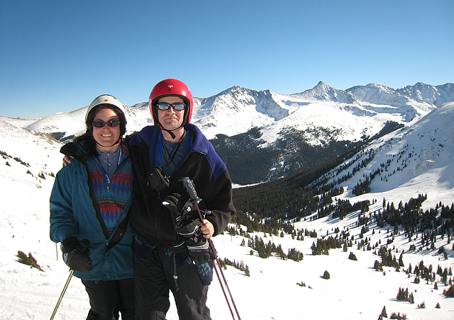 Many of you wonder what I do on my day off each week. Often I volunteer at school, but when you have a day like this, I take advantage of mid-week skiing and alone time with my husband Alek. Here we are at Copper Mountain.