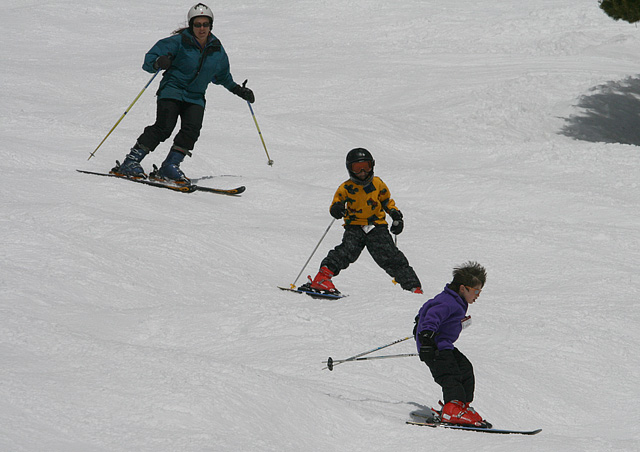I have been skiing since I was 3 years old. I was thrilled when my boys, Dirk and Kyle fell in love as well. Here we are at Winter Park. It won't be too long before they pass me up.
