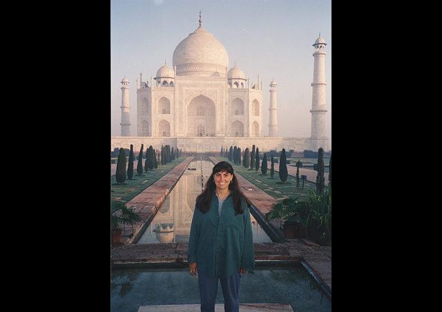My 30th birthday at the Taj Mahal at sunrise. It is a day I will never forget. I am so excited we have a trip to India coming up. What a fascinating country.