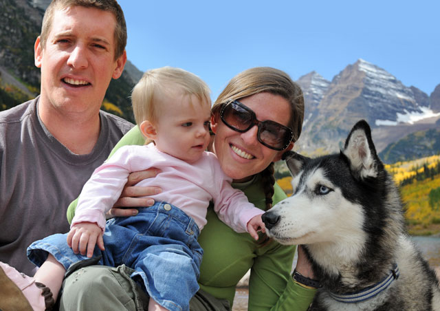 Family Photo - Maroon Bells - Aspen Colorado.