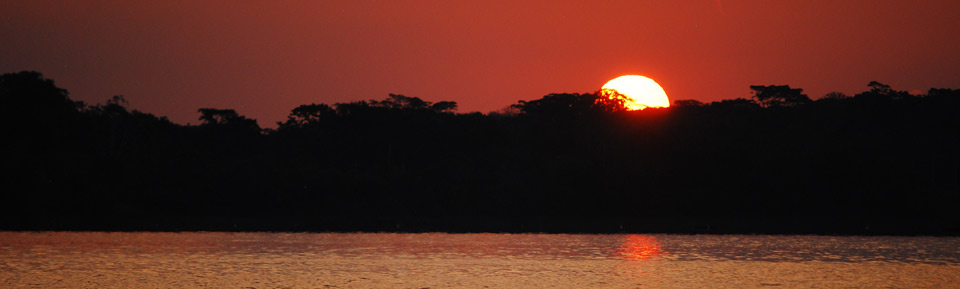Sunset, Amazon River