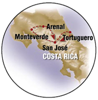 Jewels of Costa Rica Map