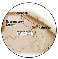 The Great Tanzania Migration safari map